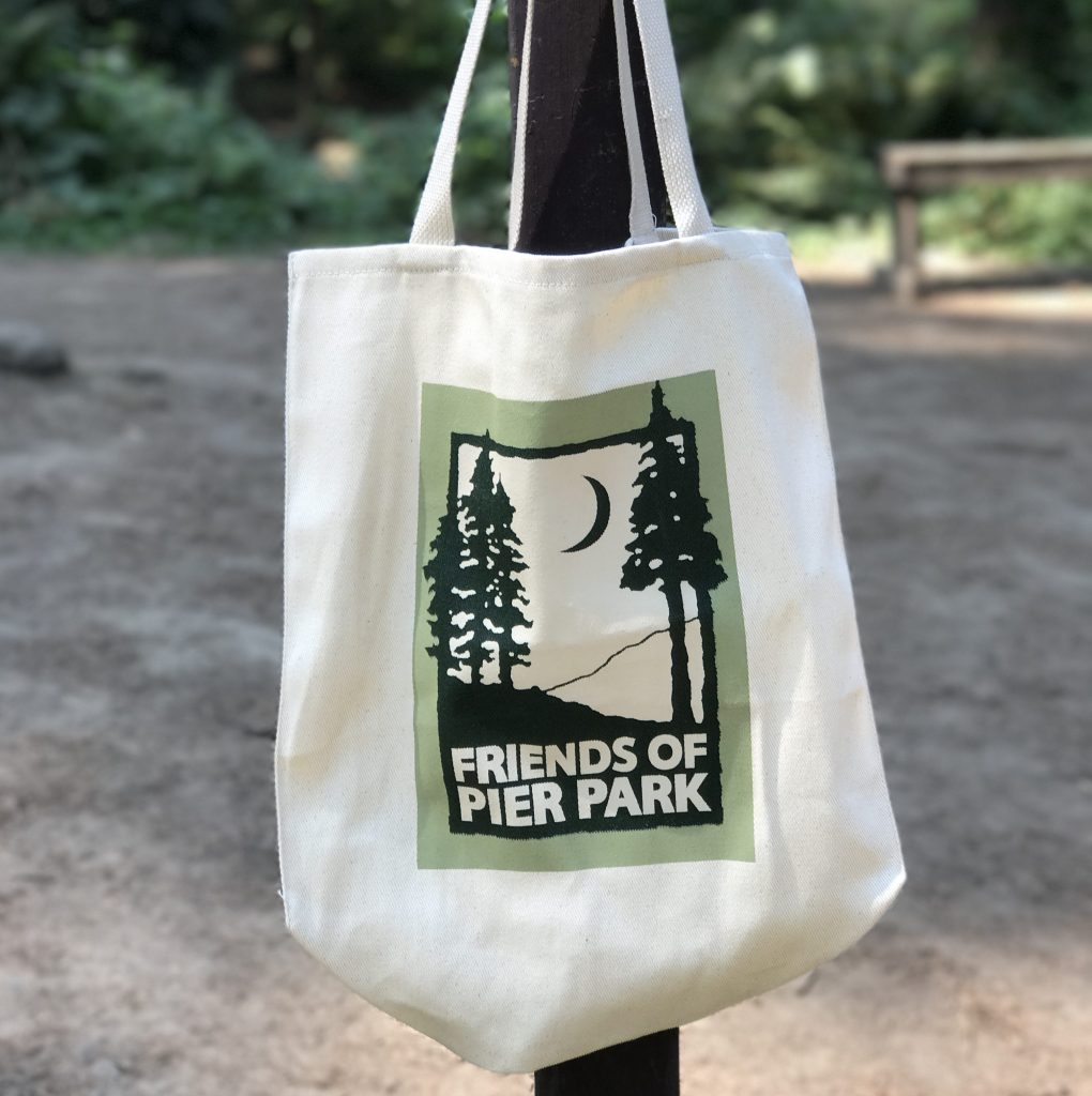 Canvas shopping bag with Friends of Pier Park logo