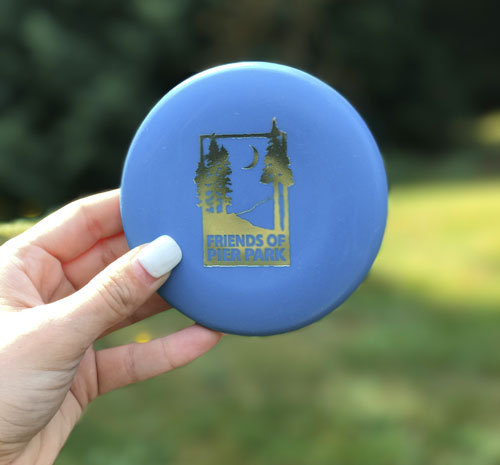 Friends of Pier Park mini disc in blue