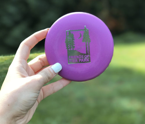 Friends of Pier Park mini disc in purple