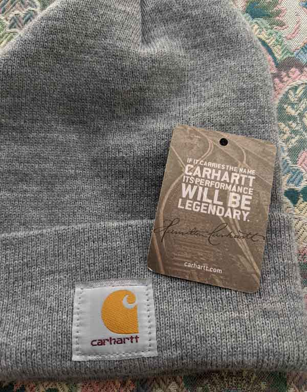 "Carhartt tag, ""If it carries the name Carhartt, its performance will be legendary."""