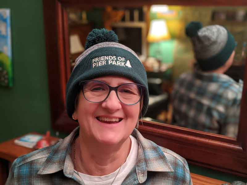 Friends of Pier Park beanie with pom