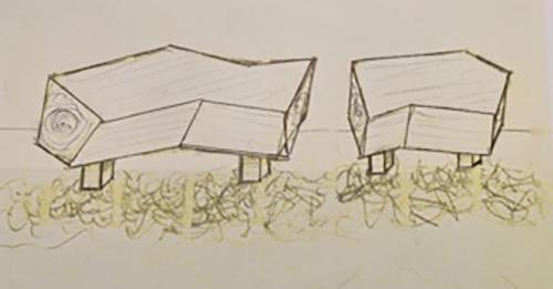 Fallen Sequoia Bench, artist design